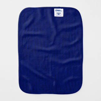 Blue Stockinette Baby Burp Cloth
