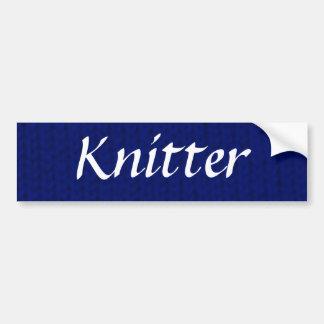 Blue Stockinette Bumper Sticker