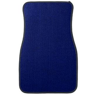Blue Stockinette Car Floor Mat