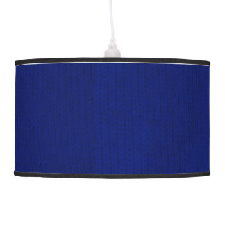Blue Stockinette Ceiling Lamp