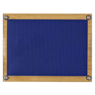 Blue Stockinette Cheese Board