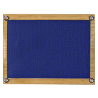 Blue Stockinette Cheese Board