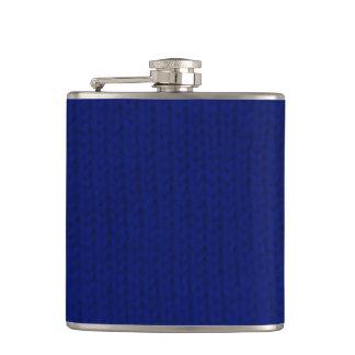 Blue Stockinette Flask