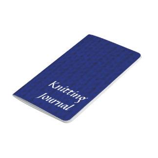 Blue Stockinette Journal