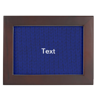 Blue Stockinette Memory Box