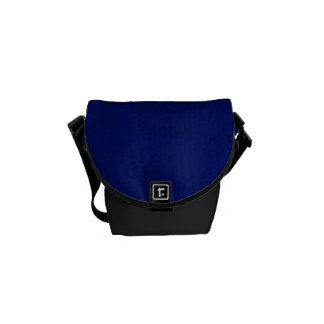 Blue Stockinette Messenger Bag