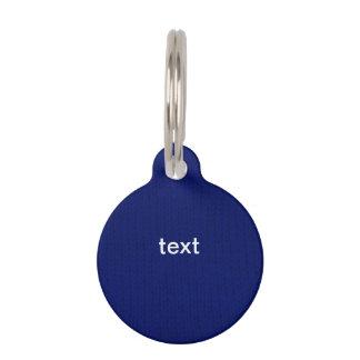 Blue Stockinette Pet Name Tag