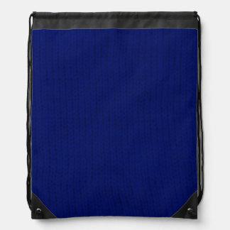 Blue Stockinette Backpack