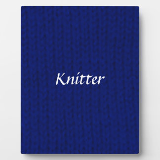 Blue Stockinette Display Plaques