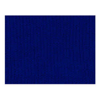 Blue Stockinette Postcard