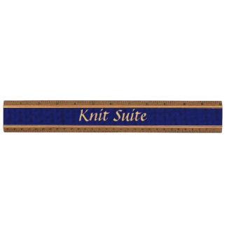 Blue Stockinette Ruler