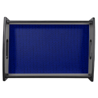 Blue Stockinette Serving Tray