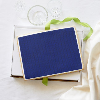 Blue Stockinette Shortbread Cookie