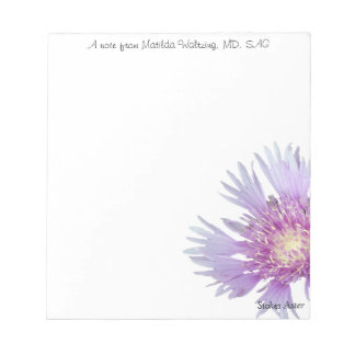Blue Stokes Aster Notepad