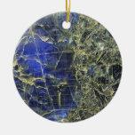 Blue Stone Christmas Tree Ornament