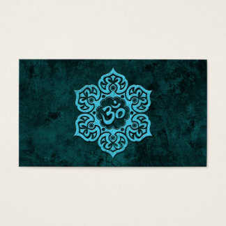 Blue Stone Floral Om Business Card