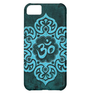 Blue Stone Floral Om Cover For iPhone 5C