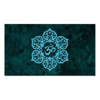Blue Stone Floral Om Double-Sided Standard Business Cards (Pack Of 100)