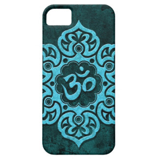 Blue Stone Floral Om iPhone 5 Cover