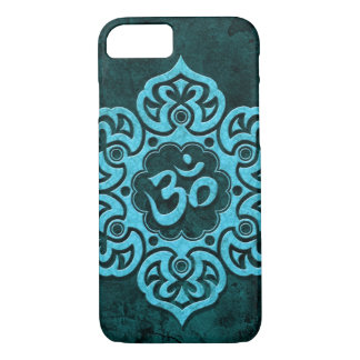 Blue Stone Floral Om iPhone 7 Case