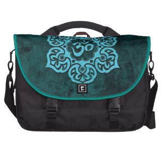 Blue Stone Floral Om Laptop Bag