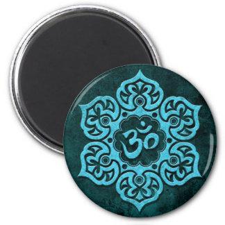 Blue Stone Floral Om Magnet