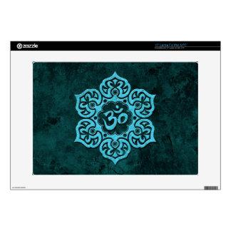 Blue Stone Floral Om Laptop Skin