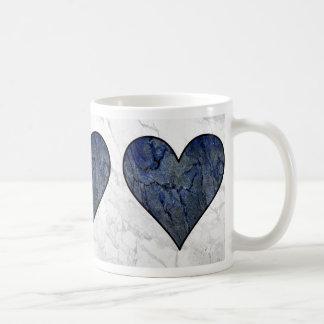 Blue Stone Heart Coffee Mug