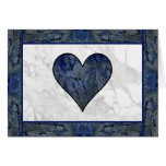 Blue Stone Heart Greeting Cards