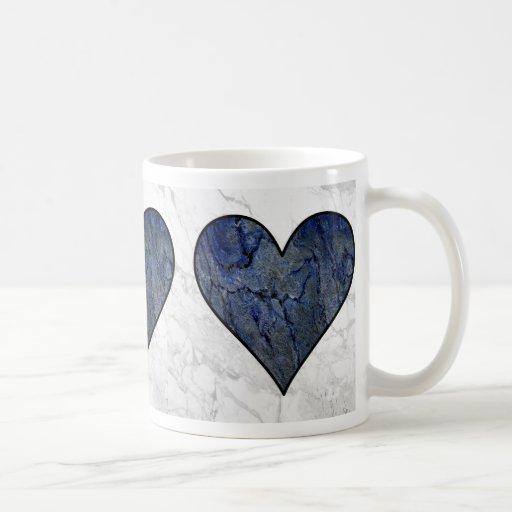 Blue Stone Heart Mug