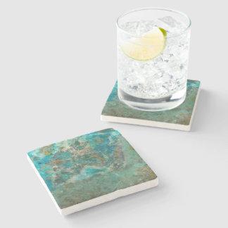 Blue Stone Image Stone Coaster