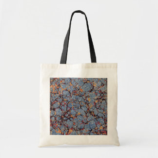 Blue Stone Marbled Paper Tote Bags