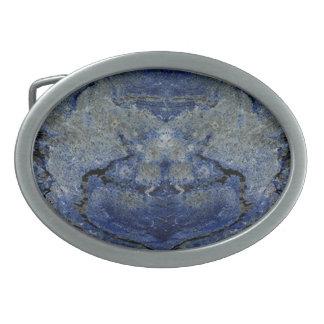 Blue Stone Oval Belt Buckle