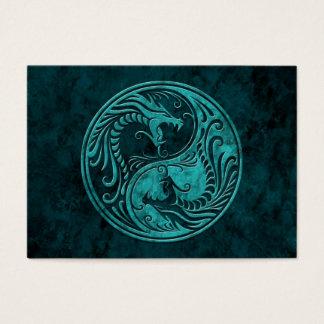 Blue Stone Yin Yang Dragons Business Card