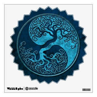 Blue Stone Yin Yang Tree Wall Decal