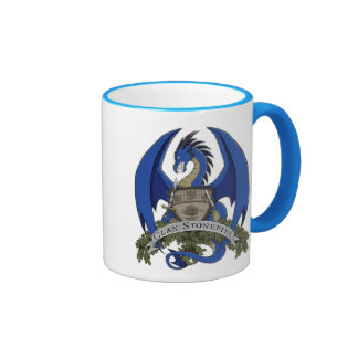 Blue Stonefire Dragon Crest Mug