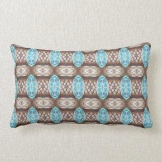 Blue Stones pattern pillow
