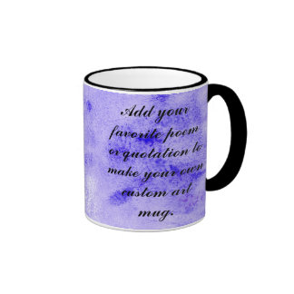 Blue Stonewashed Watercolor Background Painting Coffee Mugs