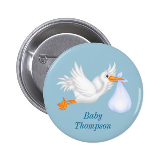 Blue Stork Buttons For Boys