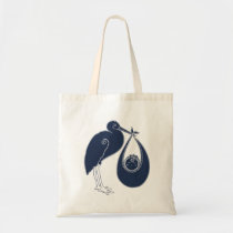 Blue Stork Tote Bag