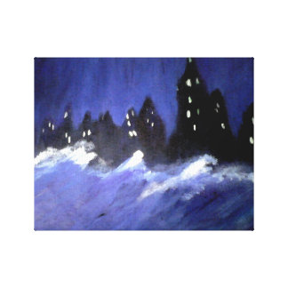Blue Storm Canvas Print