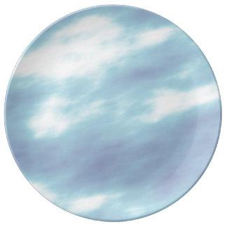 Blue Storm Clouds Porcelain Plate