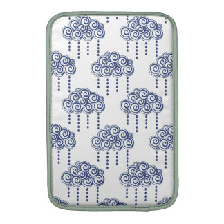 Blue Storm Rain Clouds Illustration Sleeves For MacBook Air