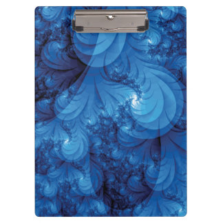 Blue Stormy Seas Fractal Clipboards