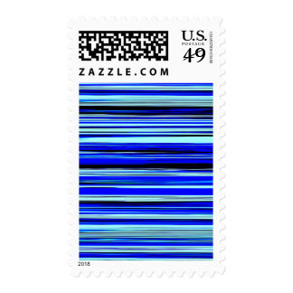 BLUE STRATA (an abstract art design) ~.jpg Postage