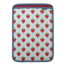 Blue Strawberry Macbook Air Sleeve 13 / 11 Inch at Zazzle