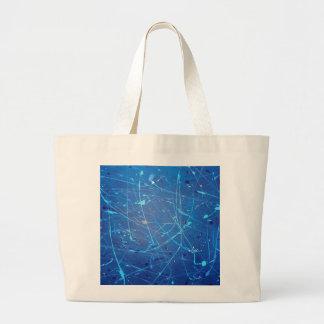 Blue Streak abstract splatter design Jumbo Tote Jumbo Tote Bag