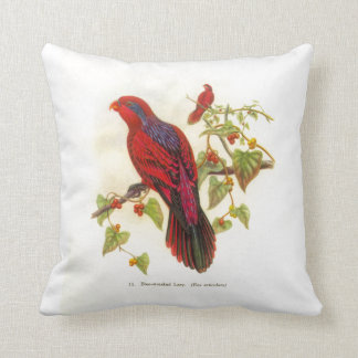 Blue-Streaked Lori Throw Pillow
