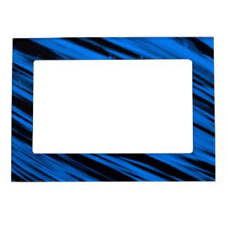 Blue Streaks Photo Frame Magnet