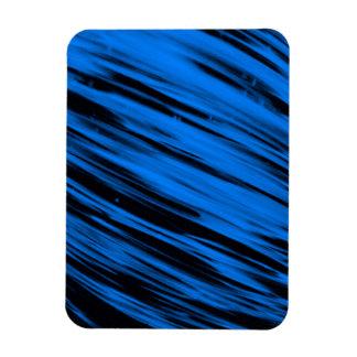 Blue Streaks Rectangular Magnet